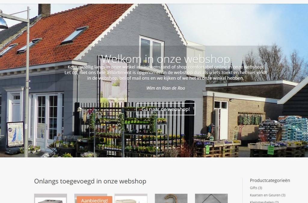 Website wordt gebouwd